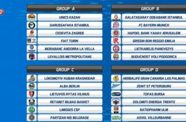 7Days EuroCup Sorteggi - Torino con Darussafaka e Unics. Reggio Emilia becca il Bayern ed il Galatasaray