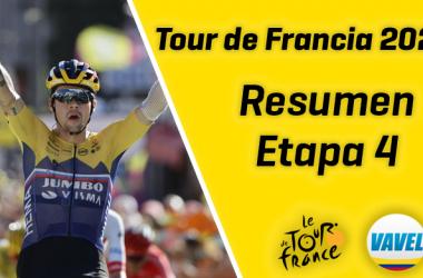 Tour de Francia 2020, etapa 4:Primož Roglič y el Jumbo-Visma hacen de las suyas