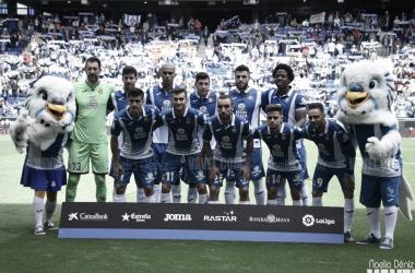Jugadores del Espanyol en el partido ante el Málaga. Foto: Vavel (Noelia Déniz)