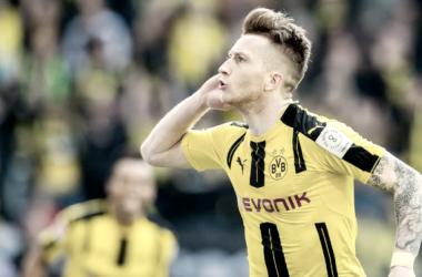 Reus celebra el primer gol del partido | Foto: bvb.de