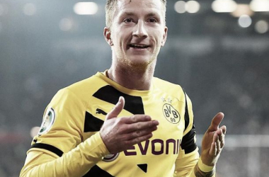Marco Reus in the black and yellow of Borussia Dortmund.