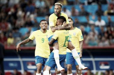 Brasil firma el pase a octavos ante Serbia | Foto: REUTERS