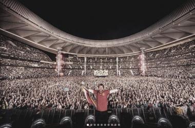 Ed Sheeran en el Wanda Metropolitano de Madrid | Foto: Instagram Oficial de Ed Sheeran (@teddysphotos)
