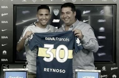"""Reynoso: """"Cuando salió la noticia de venir a Boca, me puse muy contento y no lo dudé"""""""