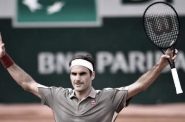 Federer celebra su victoria. Foto: Getty Images.