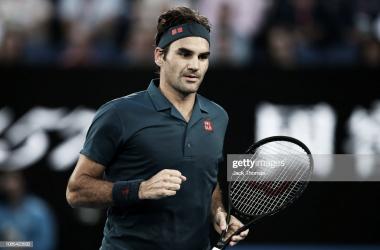 Federer logró la victoria en su primer partido en esta edición del torneo de Dubai. Foto: Getty Images.