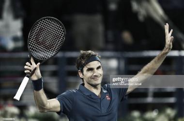 Federer celebra la victoria. Foto: Getty Images.