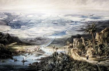 Proyecto del canal de Suez en sl s.XVIII | Fuente: CadenaSer<div><br></div>