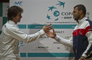 Copa Davis: Berlocq y Tsonga inauguran mañana la serie entre Argentina y Francia