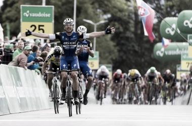 Maximiliano Richeze celebra su triunfo de etapa | Foto: Tour de Suiza