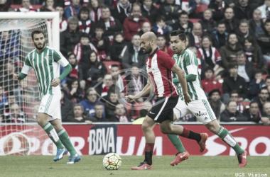 Mikel Rico marcó ante el Betis su primer gol en esta Liga | Foto: UGS Visión.