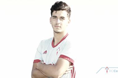 El jugador del filia, Riki Mangana, en la foto oficial de la temporada pasada. | Foto: RC Celta