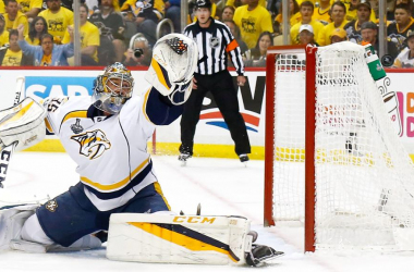 Pekka Rinne will be making saves in Nashville for another two years. (Photo: NHL.com)
