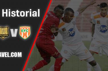 Historial entre Envigado Fútbol Club y Rionegro Águilas