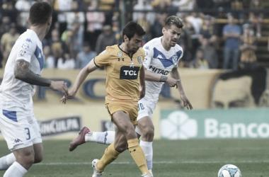 NOS VEMOS DE NUEVO. La última visita de Vélez al Gigante fue victoria para los visitantes por 1 a 0.