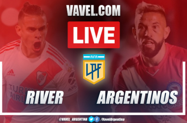 Resumen River Plate vs Argentinos Juniors (0-1) en la fecha 4 de la Copa de la Liga Profesional 2021