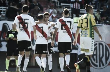 En la Superliga pasada, River le ganó 1-0 a Aldosivi con un golazo de Cristian Ferreira. FOTO: Diario26