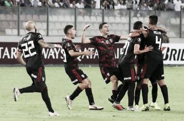 River va por su primer triunfo en la Copa Libertadores. FOTO: La Nación