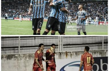 Gremio(arriba) y Sarmiento(abajo) estarán en el camino del Millonario en ambas copas. Foto: Nicolás Castillo-Vavel Argentina