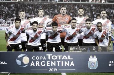 LA ÚLTIMA VEZ. Los once de River en el último encuentro por los octavos de Copa Argentina. Foto: Getty images