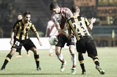 Alario tuvo poca participación en los 45´que le tocó jugar (Foto: River Plate Oficial).