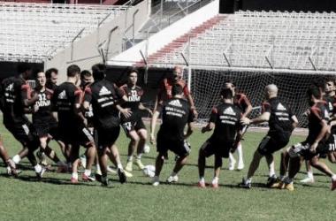 River entrenando en el estadio (Foto: River Plate Oficial).