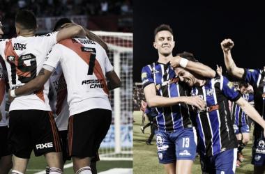River se enfrentará oficialmente a Almagro después de 14 años (Fotomontaje Adrián Gallardo)