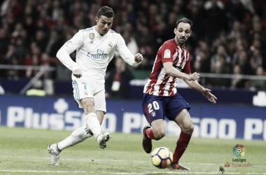 Cristiano Ronaldo e Juanfran nel derby d'andata. Fonte: LaLiga.es
