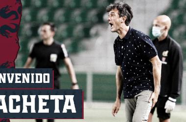 Pacheta llega al banquillo oscense / Twitter: SD Huesca