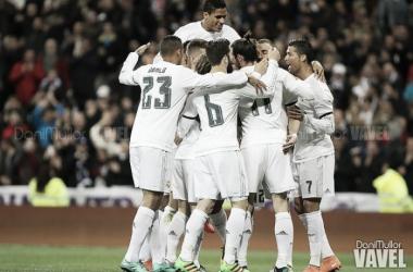 El conjunto blanco celebrando un gol | FOTO: VAVEL