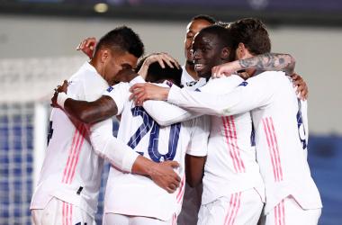 L'esultanza dei giocatori del Real Madrid. | Foto: Twitter @realmadrid.