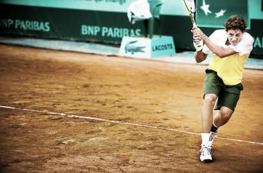 Roberto Carballés-Baena en Roland Garros. Foto: rolandgarros.com