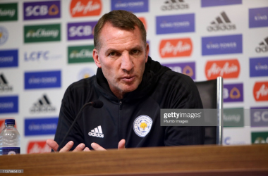Brendan Rodgers believes European football could come 'too early' for Leicester City | Photo: Getty/ Plumb Images