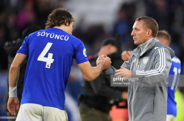 Brendan Rodgers has seen first-hand the development of Caglar Soyuncu at the King Power Stadium | Photo: Getty/ Michael Regan