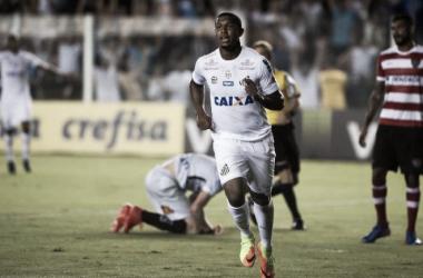 Rodrigão foi o destaque no duelo contra o Linense (Foto: Ivan Storti/SantosFC)