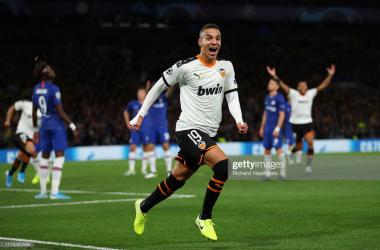 Rodrigo celebrating his winner v Chelsea via Getty Images- Richard Heathcote