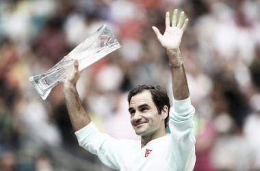 Roger Federer, campeón en Miami // FUENTE: Zimbio