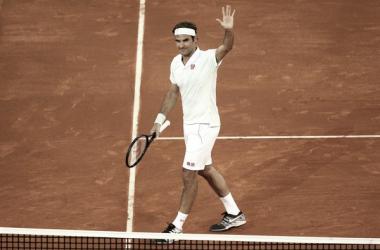 Roger Federer durante el Mutua Madrid 2019. Fuente: Zimbio