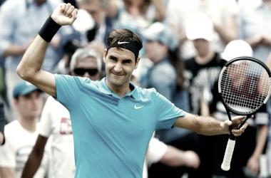 Federer extiende su invicto en canchas de césped.   Foto: ANI.