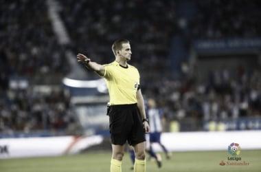 Rojas durante un partido. Fotografía: La Liga