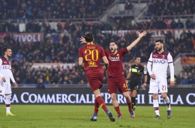 Serie A- Olsen conserva, Kolarov e Fazio finalizzano. La Roma passa all'Olimpico contro il Bologna (2-1)