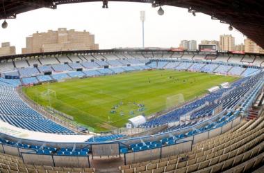 <div>Estadio de la Romareda donde se disputará el partido este sábado | Fotografía: Real Zaragoza</div>