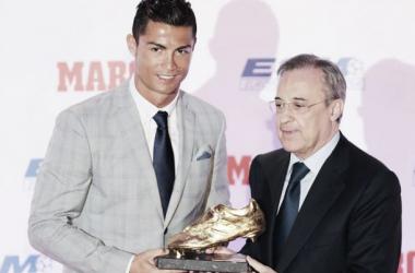 Fotos e imágenes de la entrega del Trofeo Bota de Oro 2014/15 a Cristiano Ronaldo
