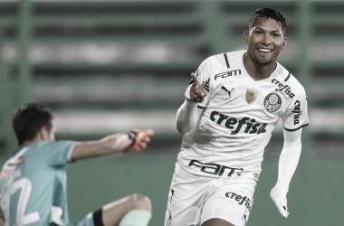 Rony comemora um dos gols da vitória (Foto: Divulgação/Palmeiras)
