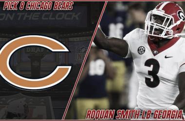 Roquan Smith, primera eleccion de los Chicago Bears (foto Chicago Bears)