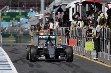 Nico Rosberg, o homem mais rápido dos FP1 na Austrália (Foto: Mercedes)