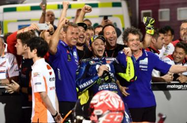Valentino Rossi kembali terlibat insiden dengan Marc Marquez. (MotoGP)