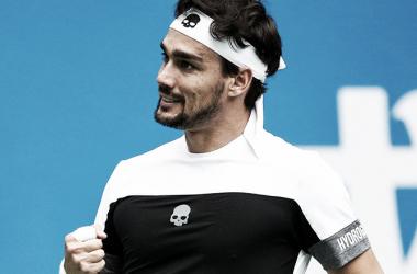 Puño apretado para Fabio para festejar las semifinales. Foto: ATP.