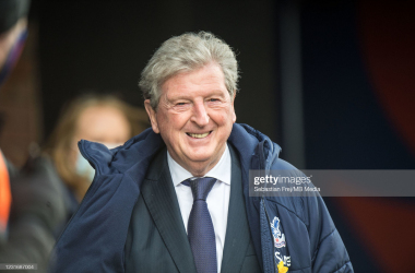 Roy Hodgson of Crystal Palace smile during the Premier League match between Crystal Palace and Manchester United at Selhurst Park. (Photo by Sebastian Frej/MB Media/Getty Images)<div><br></div>