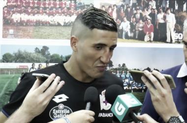 Fayçal Fajr compareciendo ante los medios // VAVEL